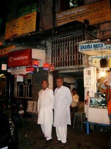 Dad and his brother, Zakariya Street, Calcutta